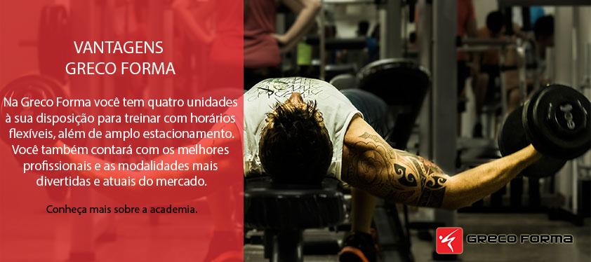 Banner Slideshow – Musculação – Conheça a Greco Forma